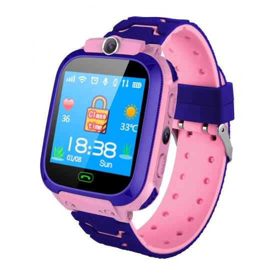Детски смарт часовник - телефон Be Smart DS39 2019, Камера, Игри, SIM, розовДетски GPS Тракери