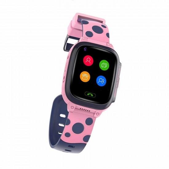 Детски смарт часовник Be Smart T8, 4k, Video call, WiFi, GPS, Розов/СинДетски GPS Тракери