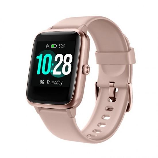Дамски Смарт часовник, за спорт и ежедневие, работи с приложение VeryFitPro, голям дисплей с висока резолюция, водоустойчив IP68, РозовДамски Смарт Часовници